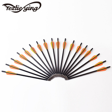 Archery 12 pcs/lot fiberglass bolt OD 7.8 mm 16 inch arrow 3 TPU flat dawn trap pull hunting archery bow outdoor