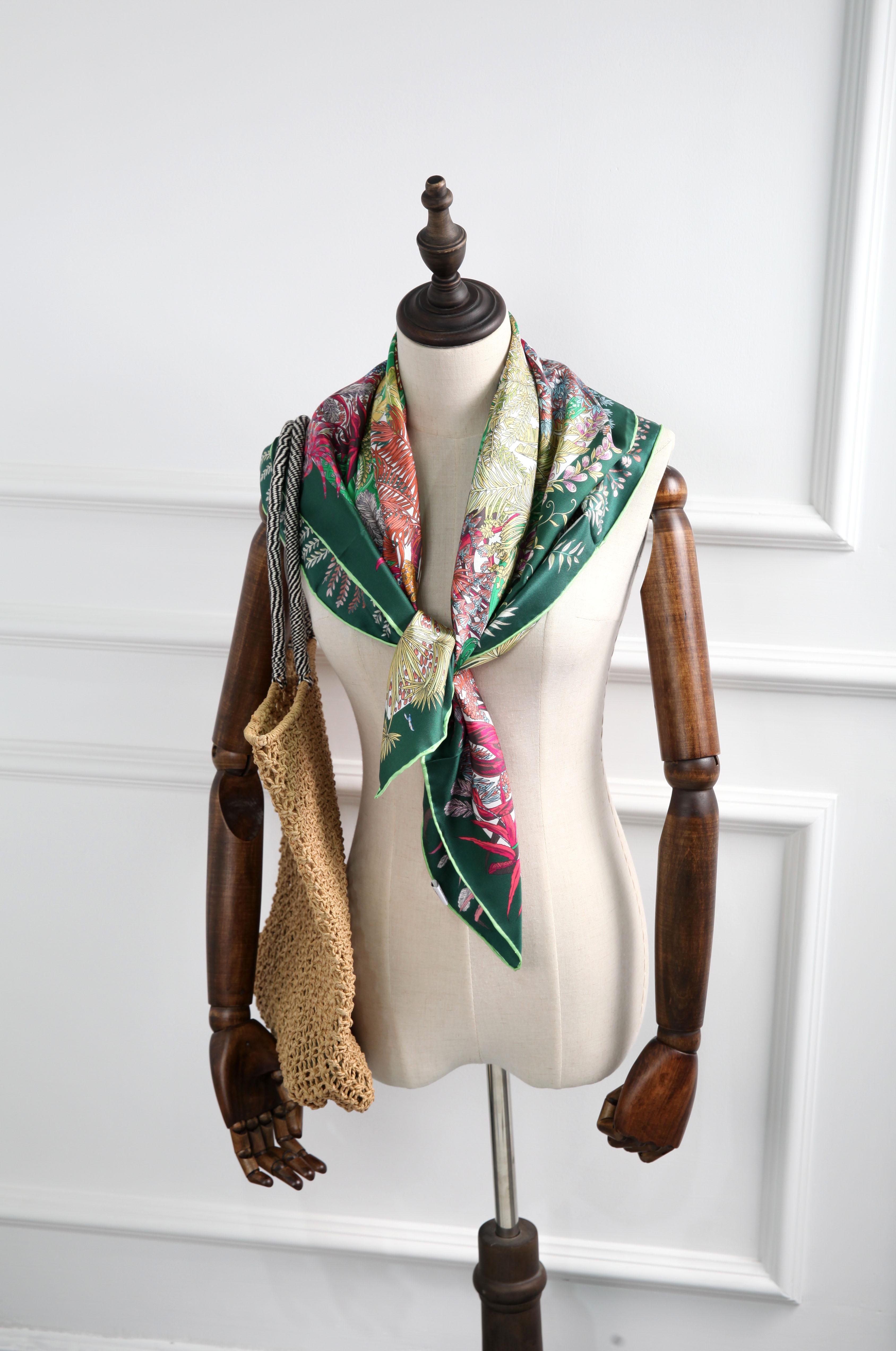 ELEGANT HANDMADE BRAND 100% Twill Silk   Scarf TWIC-40156