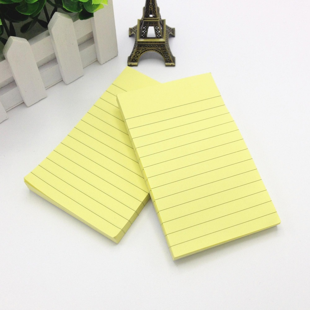 Small Pocket Double Sided Color Paper With Line Sticky Pads Made In China