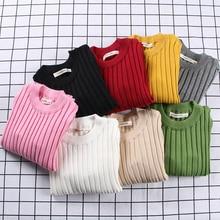 HITOMAGIC/детская одежда; свитер в рубчик для девочек; сезон зима-осень; Мягкая Милая одежда с длинными рукавами для малышей