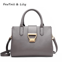 ФОТО foxtail & lily brand new 100% natural cowhide leather luxury handbags women bags designer high quality shoulder crossbody bags