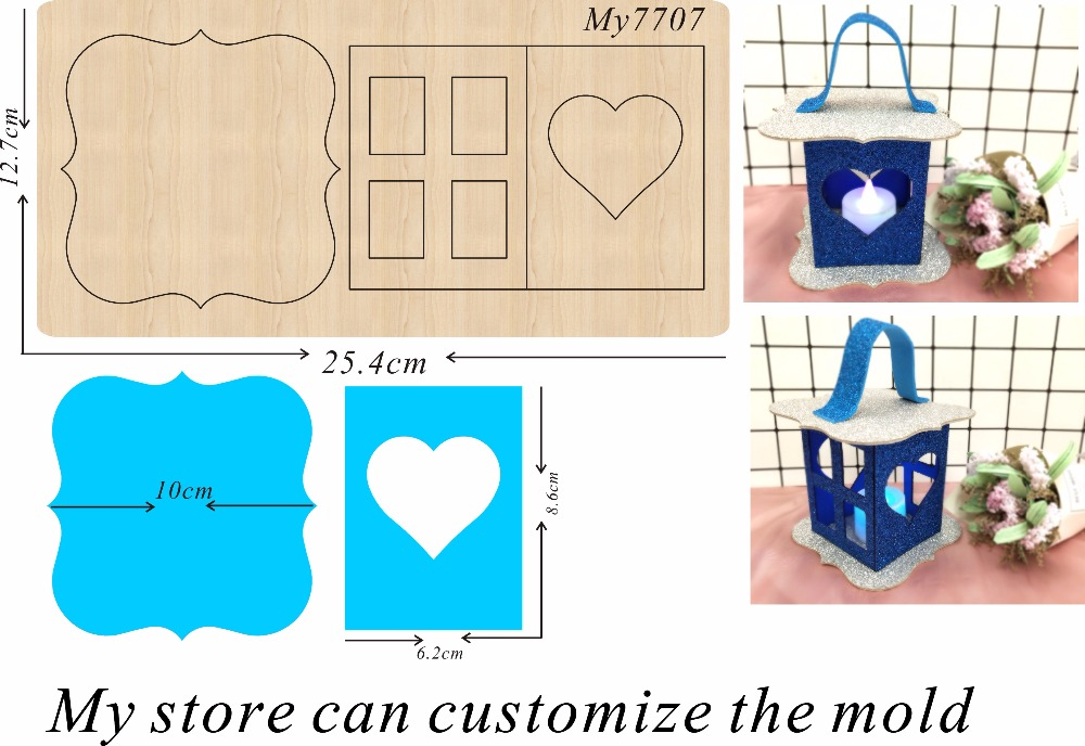 Lantern family party decoration 12 new wooden mould cutting dies for scrapbooking Thickness 15 8mm