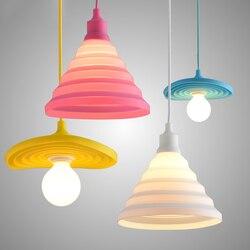 Kreative Bunte Silikon Anhänger Lichter Anhänger Lampe E27 Dekor Hause Beleuchtung für Wohnzimmer Schlafzimmer Hängen Lampe Hanglamp