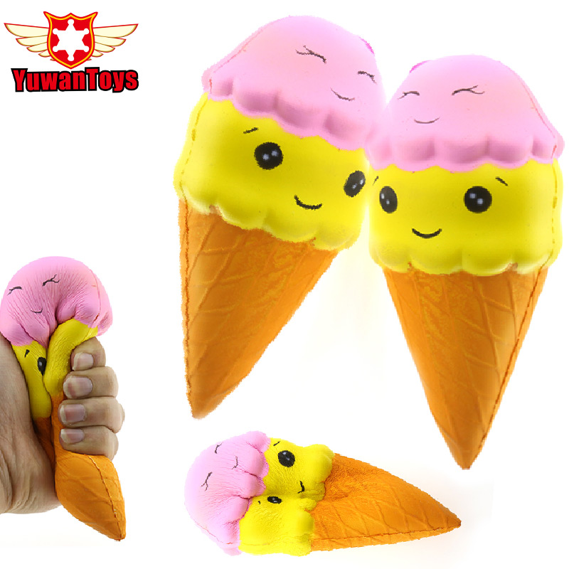 Kawai Jumbo Slow Rebound Squeeze Squishy Food Ice Cream Slow Rising High Imitation Snack Dessert Aromatic Stress Relieve Toys