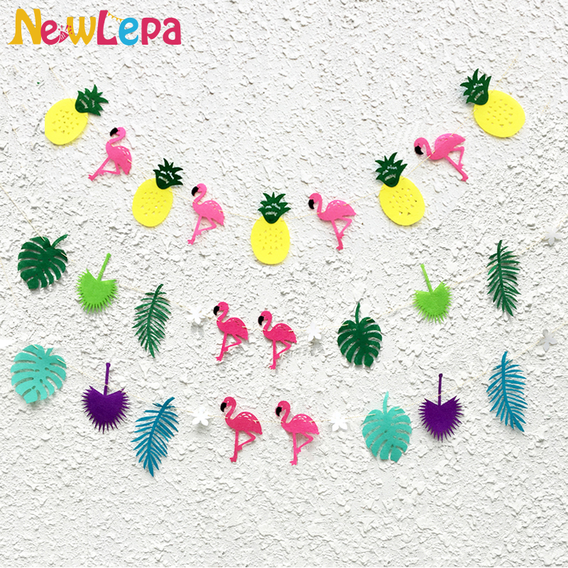 Tropical non-țesături Flamingo ananas Grătar frunze Photo Booth - Produse pentru sărbători și petreceri