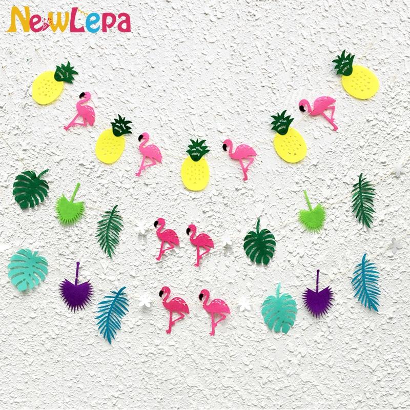 Tessuti non tessuti tropicali Flamingo Pineapple Leaf Garland Photo - Per vacanze e feste