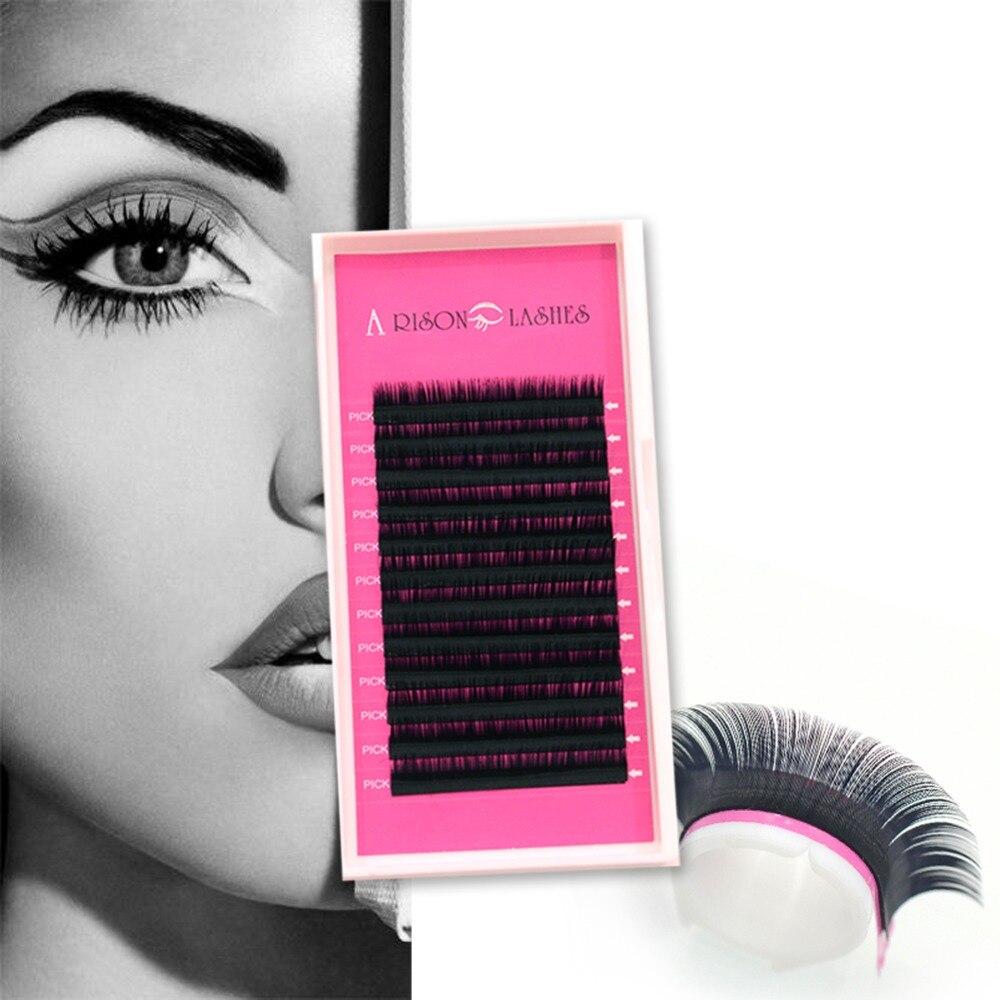 Arison lashes 0.10 C faux false mink hair silk lashes russian lashes eyelash extensions false fake eyelashes lash make up