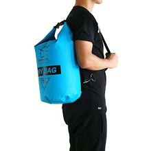 HITORHIHE 15L Waterproof Dry Bag Outdoor Swimming Camping Rafting Storage Bag with with Adjustable Straps 5 Colors