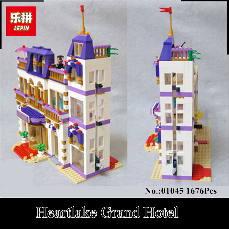 In-Stock Lepin 01045 1676Pcs Girls Series The Heartlake Grand Hotel Set Children Eucational Building Block Brick Toy Model Gift lepin 01045 1676pcs girls series heartlake grand hotel set children eucational building blocks bricks toys model gift 41101