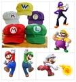 Sombrero de Super Mario Bros Anime Mario M Casquillo Rojo Cosplay Verde Luigi Verde