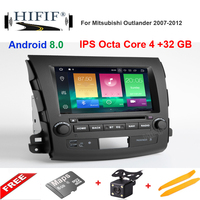8 IPS SCREEN DSP Android 8.0 4G RAM Car DVD PLAYER For Mitsubishi Outlander GPS stereo RADIO receiver navigation PC/android 8.1