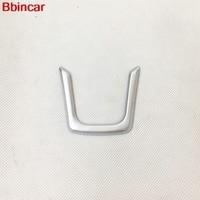 Bbincar Car Styling ABS Chrome Matt Steering Wheel Sticker Trim 1piece For Jaguar F PACE 2016