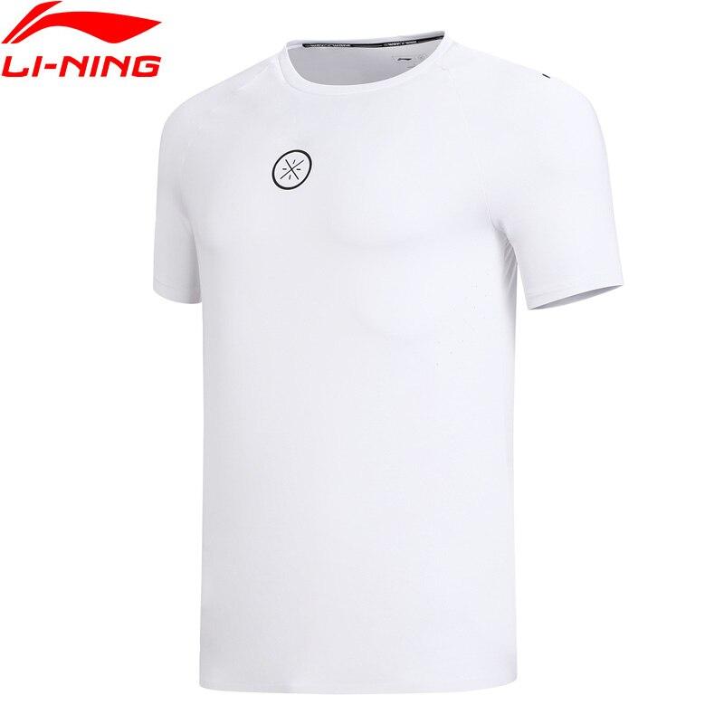 (אישור) li-ning גברים ווייד סדרת ג 'רזי כושר רגיל 81% פוליאסטר 19% ספנדקס חולצות רירית ספורט חולצות טי ATSN149 MTS2811