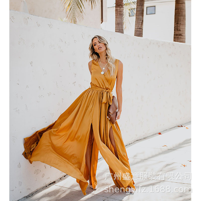 2019 Women Summer Bohemian Beach Dresses Sexy Fashion Casual Vintage Elegnat Party Night Maxi Dress