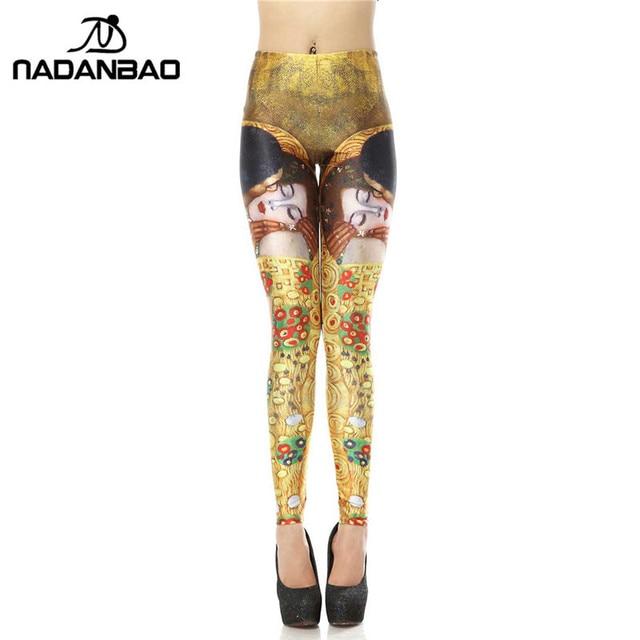 NADANBAO Marque Sexy Legging Mode Leggins Princes Embrassez Sleeping Beauté 3d  Numérique Legins Imprimé Femme Leggings 7a78e1fc3b8