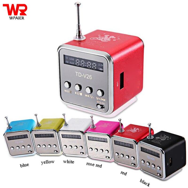 Wpaire TD-V26 altavoz inalámbrico metal TF tarjeta/U disco mini altavoz portátil audio inalámbrico tipo universal