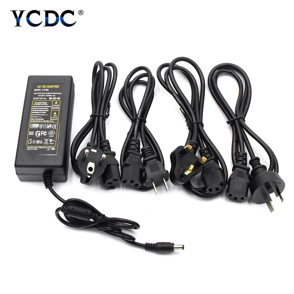 Consumer Electronics Universal Dc 12v 1a Ac 100-240v Adapter Power Supply Eu Plug For Led Strip