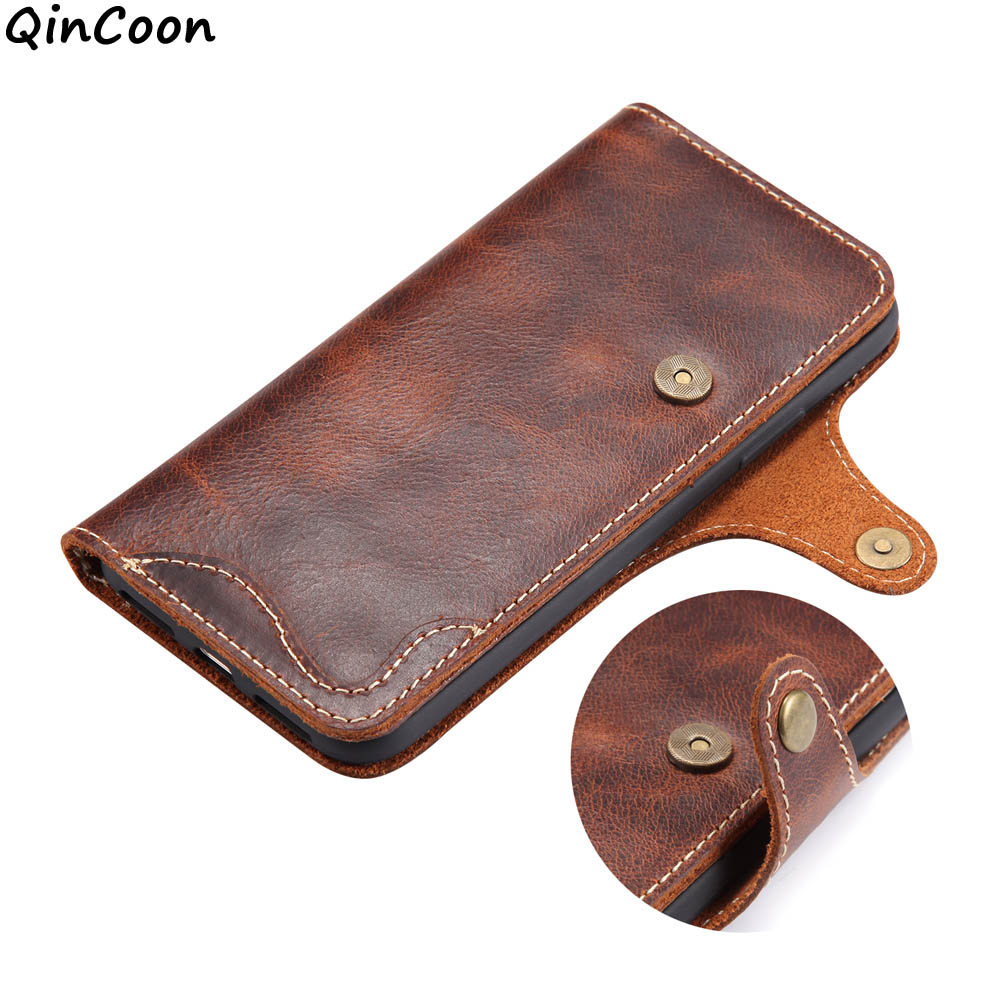 Natural Cowhide Case for iPhone 11 Pro Max XR XS X 8 7 Genuine 