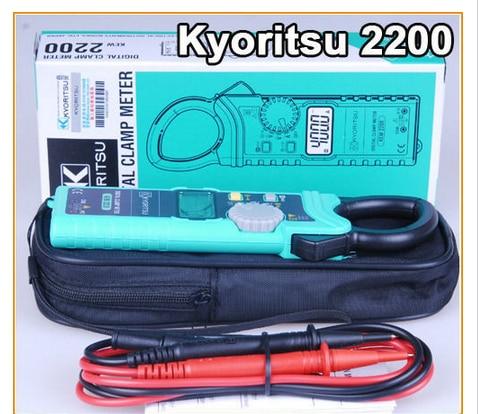 KYORITSU 2200 Digital AC Clamp Meter 40/400/1000A AC 4/40/400/600V AC 400mV/4/40/400/600 DC tm 1005 digital ac clamp meter ac transducer with aca output 1 400mv tm1005