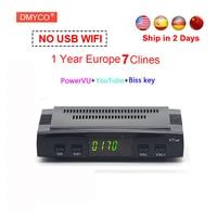 DVB S2 Freesat V7 Receptor Satellite Decoder USB WIFI With Cccam Cline For 1 Year HD