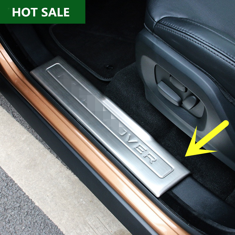 ФОТО  Inside Door Sill Scuff Plate For Land Rover Range Rover Evoque 2012-2016 4pcs