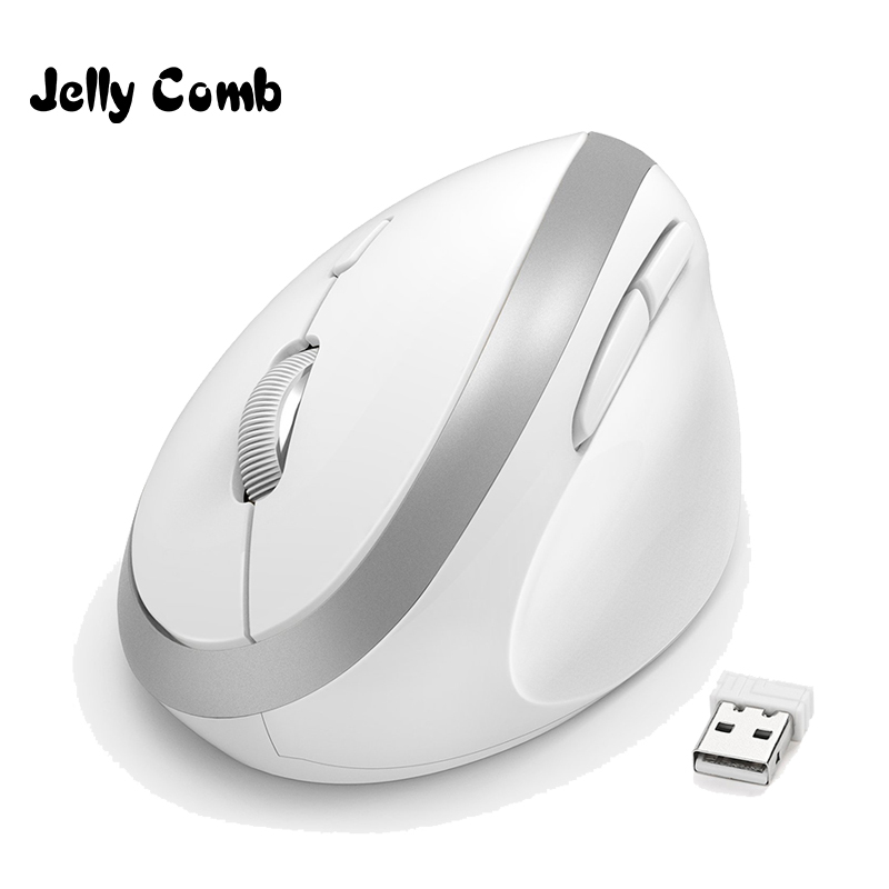 Jelly Comb Right Hand Vertical Mouse for Laptop Ergonomic Wireless Mouses Adjustable DPI Computer Optical Mice Wrist Healing image