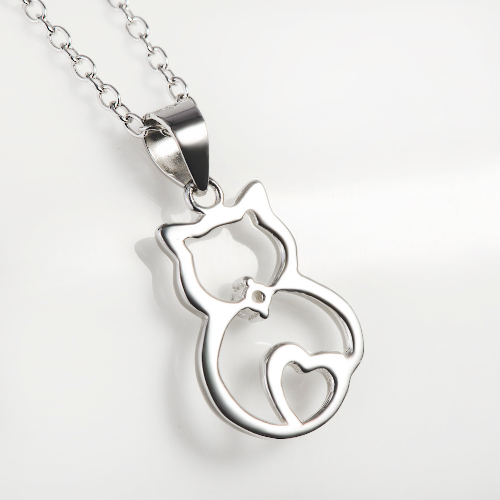 Wholesale solid 925 sterling silver cat pendants necklaces kitty wholesale solid 925 sterling silver cat pendants necklaces kitty jewelry animal necklace for women 18inches gnx8723 in pendants from jewelry accessories aloadofball Gallery