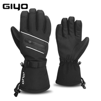 Giyo Full Finger Waterproof Cycling Gloves Thermal Ski Snowboard Bicycle Mittens Winter Sport Touch Screen Anti cold Long Gloves