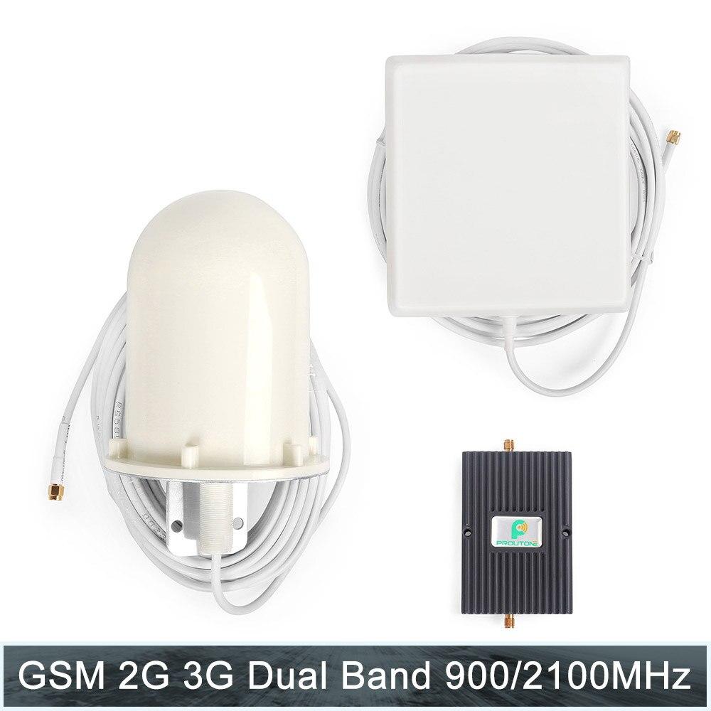 Répéteur GSM 3G 2100 amplificateur de Signal cellulaire gsm 900 3G UMTS 2100 mhz amplificateur de téléphone Mobile 900 2100 mhz répéteur 3g antenne UMTS
