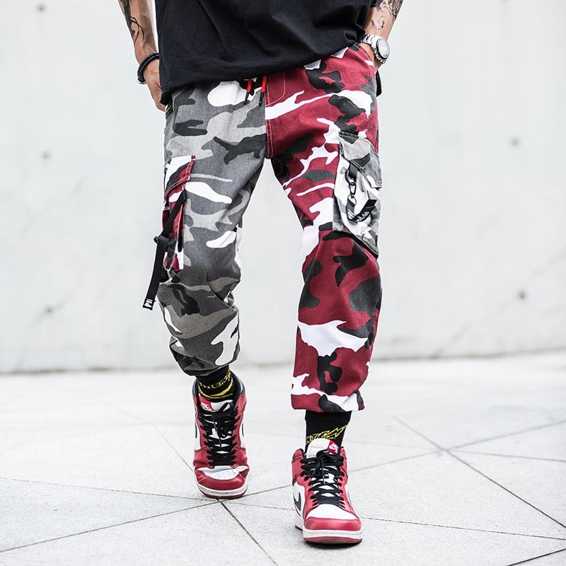 Fashion Streetwear Men Jeans Hip Hop Trousers Camouflage Military Big Pocket Cargo Pants Hombre Japanese Style Joggers Pants Men