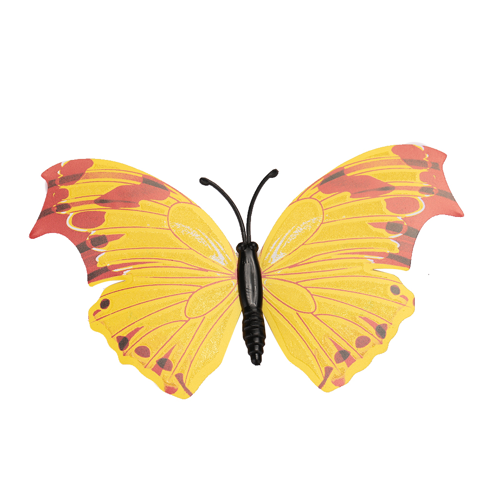 3D Butterfly Wall Stickers Fluorescence Luminous Double Wing ...