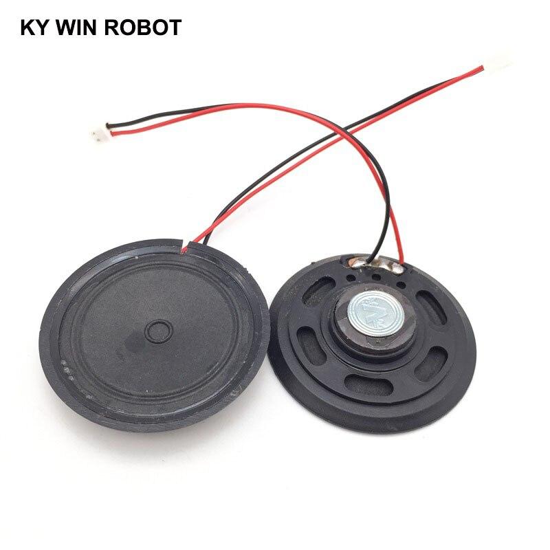 """מזגנים 2pcs / הרבה חדש דק צעצוע ברכב צופר 16 אוהם 0.5 וואט 0.5W 16R הדובר קוטר 57mm 5.7CM עם 10 ס""""מ אורך החוט מסוף PH2.54 (3)"""