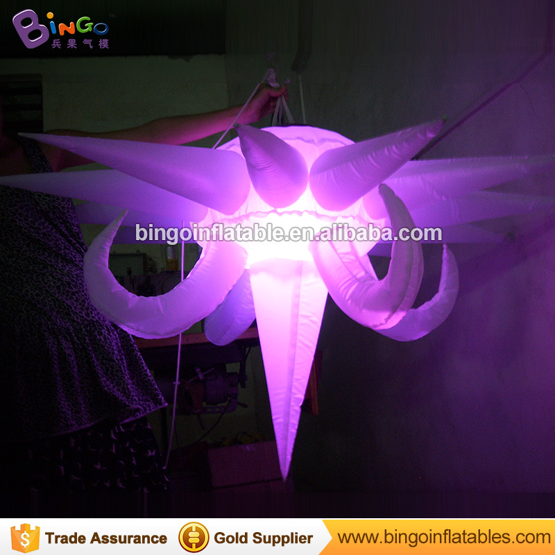 1.5m Advertising inflatable star sky led lighting products inflatable lighting star with color changing for night club N stage
