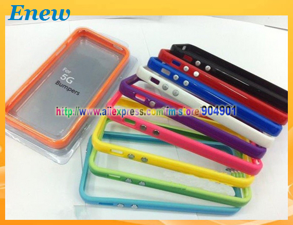 Free shipping Soft case for iphone 5 Bumpers Frame for iphone 5 with retail package