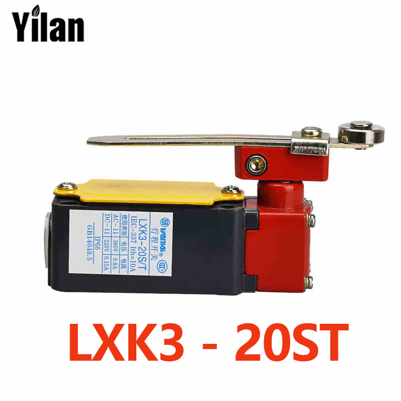 LXK3-20S / T Travel switch Micro switch limit switch Adjustable roller Rotary arm type limit wheel micro switch tm 1743 high temperature resistence switch limit switch travel switch