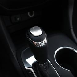Aço inoxidável para chevrolet equinox 2017 2018 2019 acessórios do carro alavanca de mudança de engrenagem lidar com capa guarnição estilo 1pcs