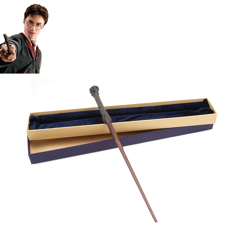 Metal Iron Hogwart Potter Children Toys Street Flying Close -up Magic Tricks Wand With Mystery Gift Box Original Version 3L