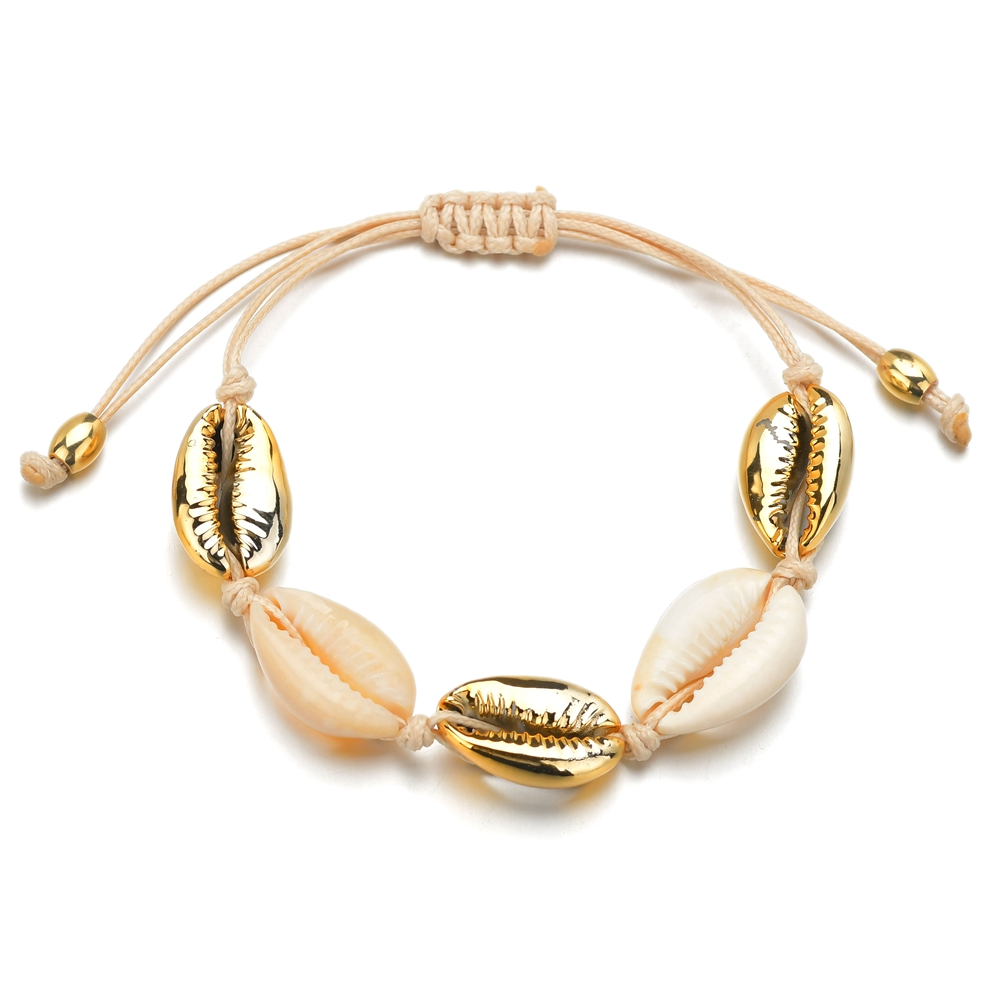 Bohemian Natural 1pc Hot Sale Fashion Wholesale Sea Shell Bracelet In Adjustable Bracelets For Women Girls Accessories