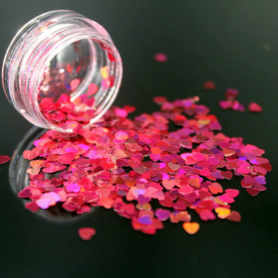 1 Box Rose Red Holografische Pailletten Glitter Shimmer Diamond 12 Kleuren Eye Shiny Skin Markeerstift Gezicht Lichaam Glitter Festival Makeu