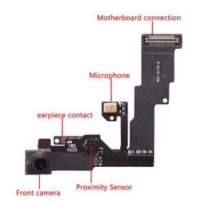 Image 2 - 1 セットのための iphone 6 6s プラスホームボタンフレックス + フロントカメラセンサー近接 + イヤホン + フルネジ + イヤホン金属修理部品