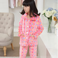 2016 Winter Thicken Coral Velvet Girls Pijama Sets,Thermal Pijamas Kids Pajamas,Soft Pyjama Enfant Fille,Pajamas,Home Clothes