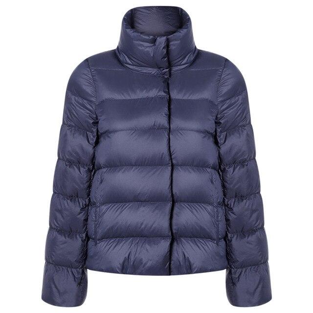Wipalo Plus Size Stand Collar Long Sleeve Packable Lightweight Women Coat Waterproof Parka Jacket Winter 2018 Outwear Clothing