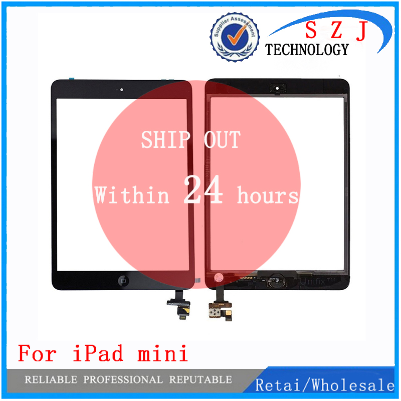 New 7.85'' Inch Digitizer Touch Screen With IC Connector & HOME FLEX Assembly For IPad Mini White And Black Free Shipping