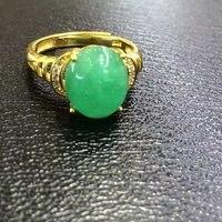 2017 Anillos ювелирные изделия Qi Xuan_Jewelry_Colombia зеленые камни Мода Rings_Plated Желтое золото женщина rings_завод прямые продажи