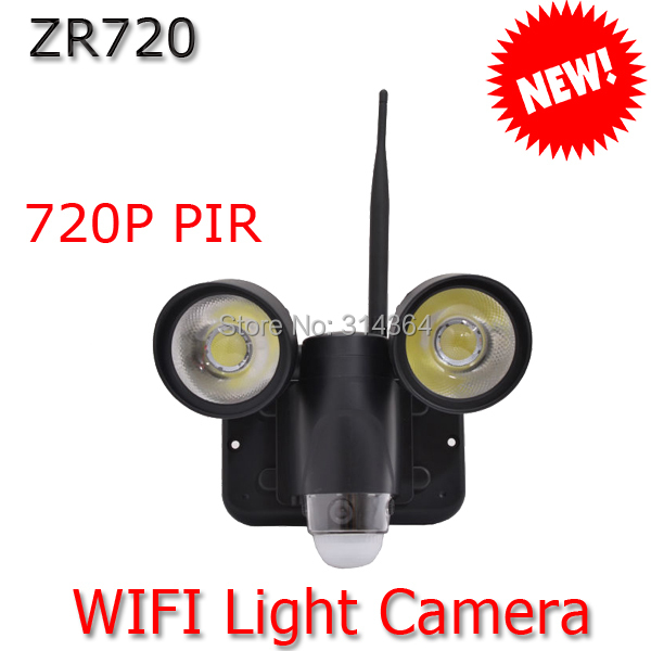 Wifi PIR Light Camera Motion detection DVR Camera High Quality night vision up to 8m Hot Sale ZR720 eazzy bc 688 bulb cctv security dvr camera auto control light and recording motion dection night vision circular storage