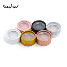 10Pcs Empty Round Lash Boxes For 3D Mink Eyelash Extension Gold White Rose Black Pink Offer Plastic Tray Strip Box