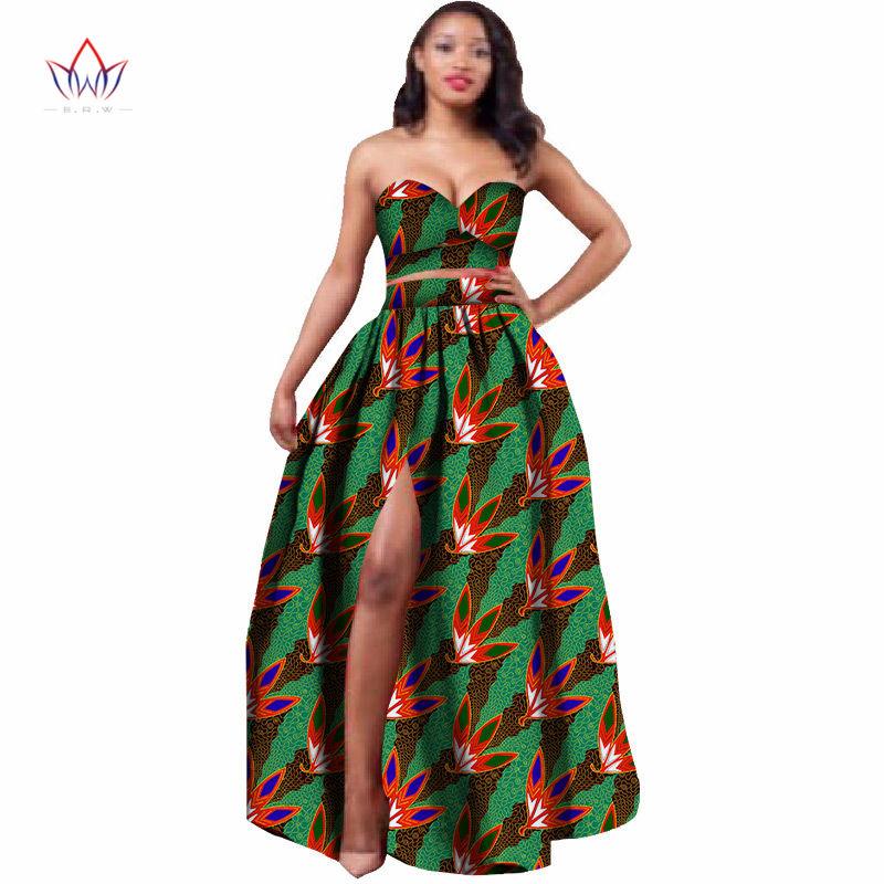 2019 African Clothes Dashiki for Women Bazin Riche Crop Top and ... 6b12244ed643