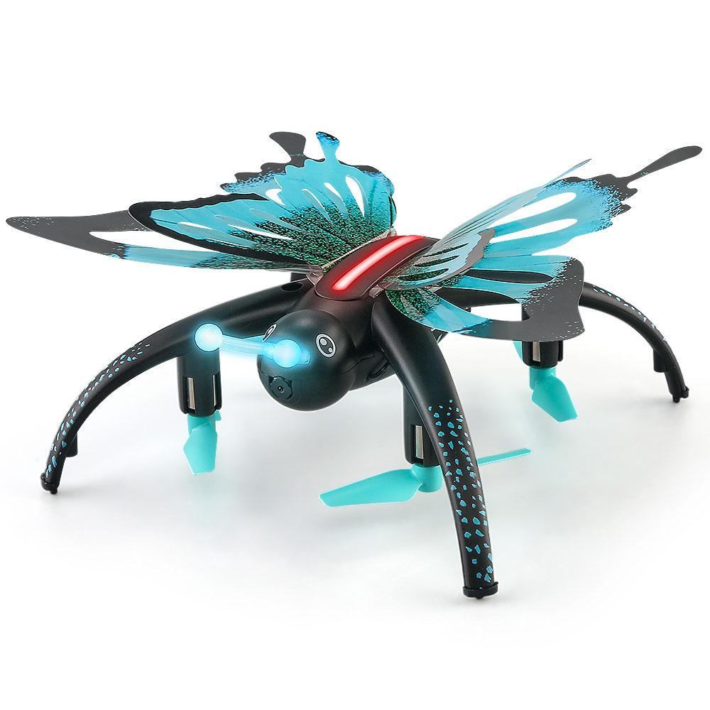 JJR/C Butterfly H42WH Mini Drone With Camera WiFi 0.3MP Camera Height Wireless Luminous Quadcopte Multicolor RC Heli