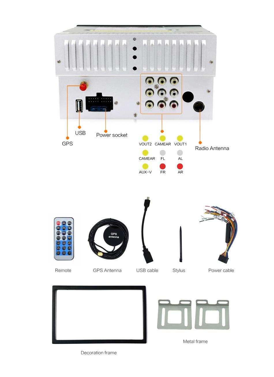 Coche Reproductor multimedia 2 din radio volante grabadora de cinta - Electrónica del Automóvil - foto 6