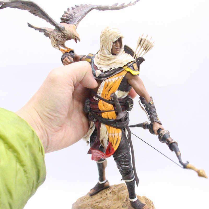 Personagem do jogo Aya & Bayek 25 cm Alta Qualidade Estátua PVC Figura de Ação Brinquedos Modelo